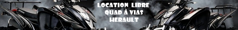 location libre de quad � vias herault