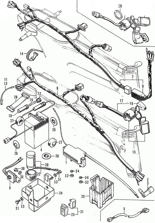 Categories Dirtbike France Allumage Electricite Dax 6v 194 on Honda Atc 110 Wiring Diagram