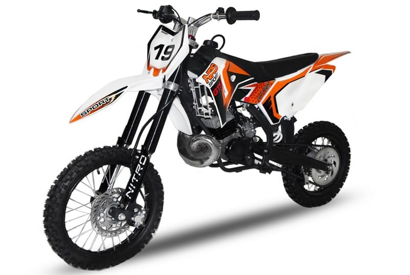 DIRT BIKE NRG 65 GTS RACING 12/14 POUCES  16cv  NITRO ref : 1110448