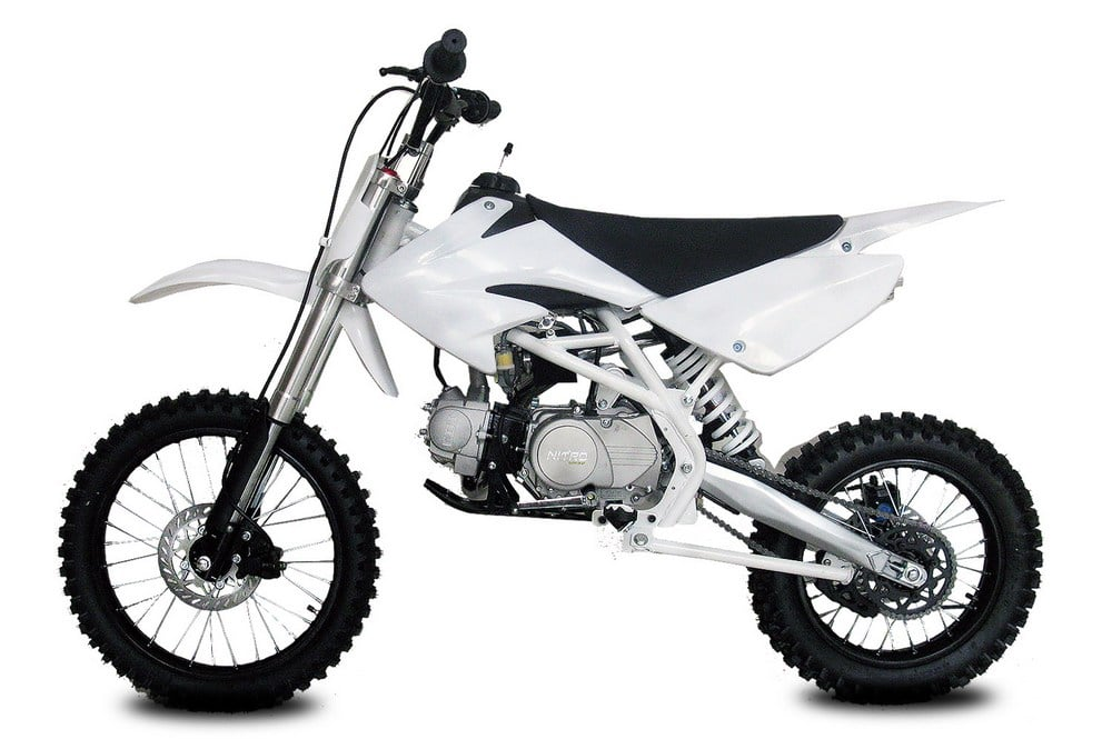 DIRT BIKE THUMP BLANC 125 14-17 Pouces NITRO ref : 1111630