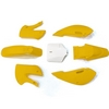 KIT PLASTIQUE KLX110 JAUNE DIRT BIKE 7 PIECES