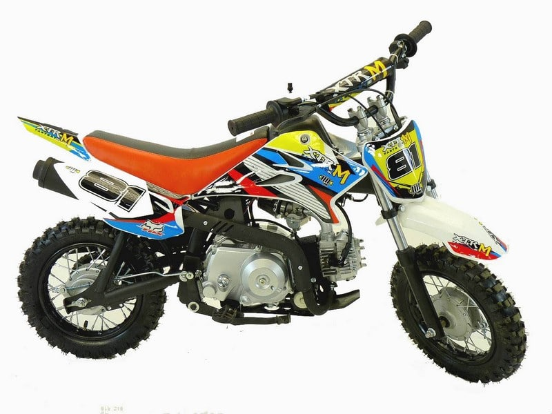 DIRT BIKE APOLLO 90 MINI SEMI AUTOMATIQUE DEMARREUR KICK