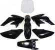 KIT PLASTIQUE CRF50 NOIR DIRT BIKE  7 PIECES