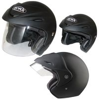 CASQUE JET WOODY BLACK FROST : L