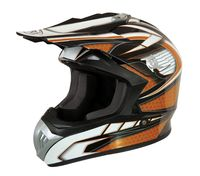 CASQUE CROSS MARVIN DECO ORANGE : XL