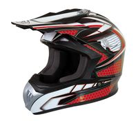 CASQUE CROSS MARVIN DECO RED : L