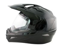 CASQUE CROSS DARRYL UNI SHINNY BLACK : XS