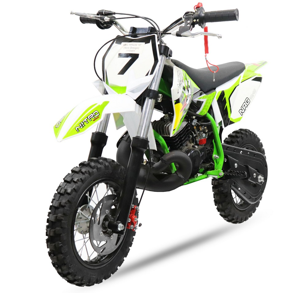 DIRT BIKE NRG 50 10-10 POUCES  2 TEMPS 9CV NEW DESIGN