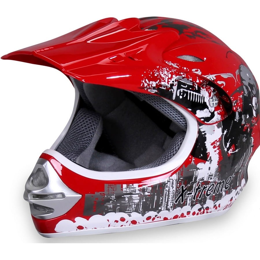 Casque cross enfant X-treme rouge