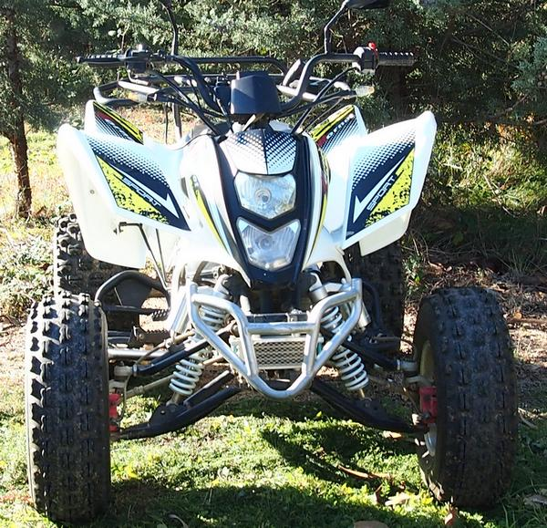 QUAD SHINERAY 200 ST-9 BLANC HOMOLOGUE OCCASION 721 KMS