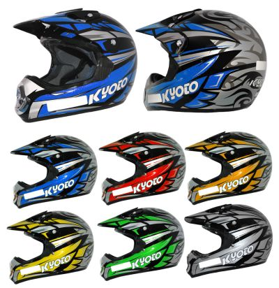 CASQUE KYOTO CROSS SK15 ADULTE NOIR/JAUNE S 55-56