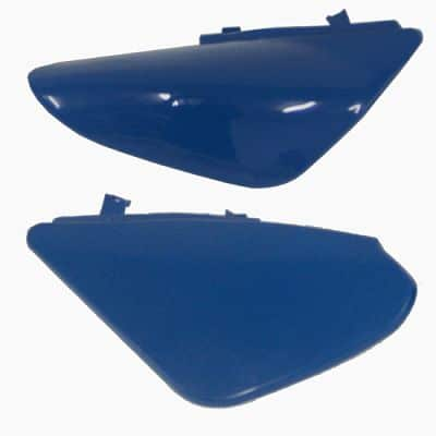 KIT PLASTIQUE CACHES ARRIERES BLEU DIRT BIKE TYPE CRF50 2 PIECES