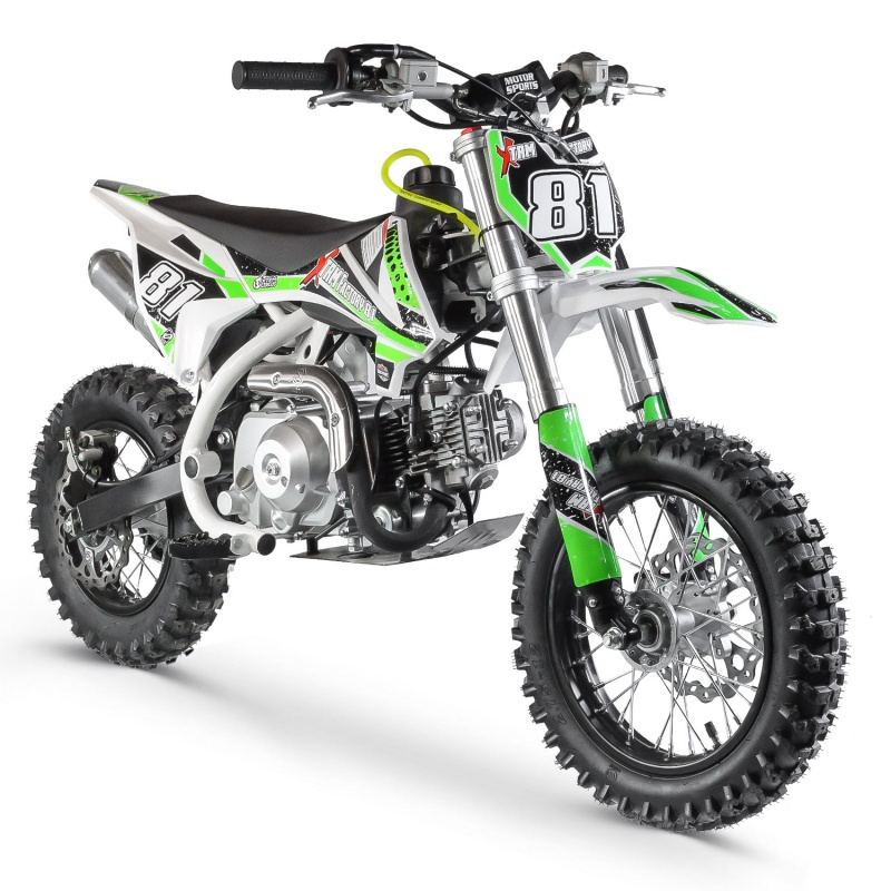 DIRT BIKE 70CC MX AUTOMATIQUE WHITE RACING XTREM FACTORY